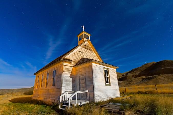 Dorothy Church near Drumheller, Alberta